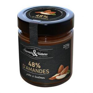 Saveurs et Nature Pâte à tartiner aux amandes bio en pot de 225 g