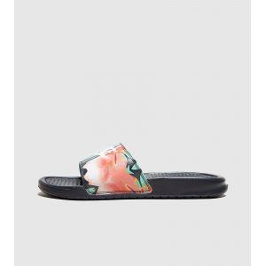 Nike Claquette Benassi JDI Floral pour Femme - Noir - Taille 36.5 - Femme