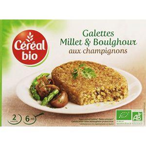 Céréal bio Galettes de céréales cuisinées Bio de boulghour, millet et champignons de Paris Bio - 200 g