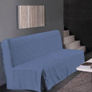 Homemaison HOMETREND Housse de clic clac Graphite - 200 x 140 cm - Bleu
