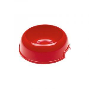 Ferplast PARTY Gamelle en plastique, de différentes couleurs et tailles. Variante 4 - Mesures: Ø 15,5 x h 5,1 cm - 0,3 L - Rouge