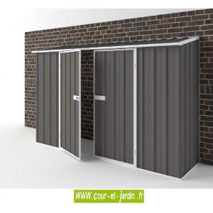 EasyShed Abri de jardin adossable Compact de 2,25 m² en métal (de 300 cm x 75)