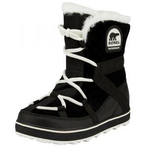 Sorel Glacy Explorer, Bottes de Neige Femme, Noir (Black 010), 40.5 EU