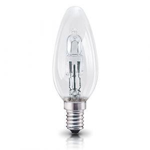 Osram Ampoule halogène E14 dimmable Classic A / 30 W - Equivalence incandescence 40 W, ampoule halogène en forme de bougie / transparent, blanc chaud - 2700K, lot de 5