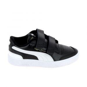 Puma Chaussure Basket Ralph Sampson Lo Kids pour Enfant, Noir/Blanc, Taille 35