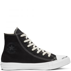 Converse Chaussures casual unisexe Chuck Taylor All Star montantes toile recyclée Renew P.E.T Canvas Noir - Taille 43