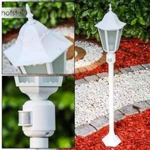 Hofstein Lampadaire d'extérieur Hongkong Frost Blanc, 1 lumière Moderne Extérieur Frost