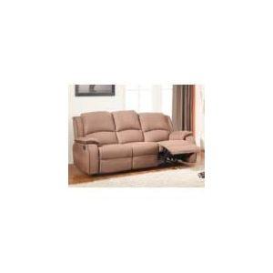 Canapé relax Hernani 3 places en microfibre