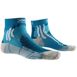 X-Socks Run Speed Two Chaussettes course à pied Homme, teal blue/pearl grey EU 39-41 Chaussettes de compression