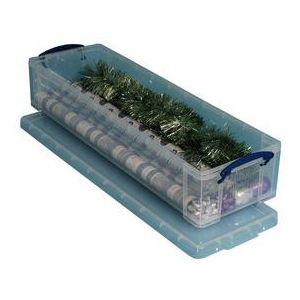 22CCB - Boîte de rangement en plastique 22 litres, en PP recyclé transparent