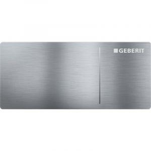 Geberit Omega70 Plaque de commande pour Omega réservoir encastrable 12cm 11.2x5cm pneumatique acier inoxydable brossé 115084FW1