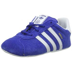 Adidas Gazelle Crib, Sneakers Basses Mixte bébé, Multicolore (Collegiate Navy/FTWR White/Gold Met. Cg6541), 17 EU