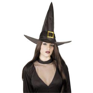 Chapeau sorcière avec boucle dorée adulte