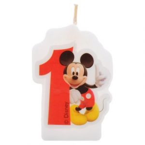 Procos Bougie anniversaire Mickey : 1 an