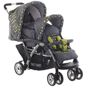 Chic 4 Baby Poussette double Duo avec Baby Sac De Transport Et Housse De Pluie