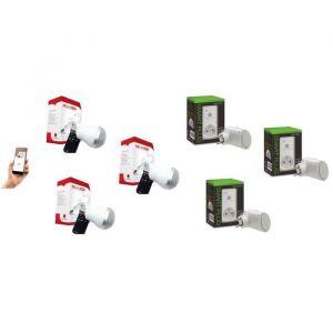 New Deal Pack de 3 prises connectées WiFi Speco+ et 3 ampoules musicales ZicLed W11