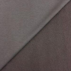 Craftine Tissu Molleton Sweat uni Marron chocolat