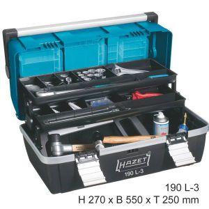 Hazet 190L-3 - Boîte à outils en plastique
