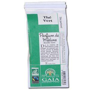 Les jardins de gaïa Thé vert parfum de Medina 100g