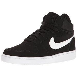 Nike WMNS Court Borough Mid, Chaussures de Sport-Basketball Fille, Blanco (Blanco (Black/White)), 37.5 EU