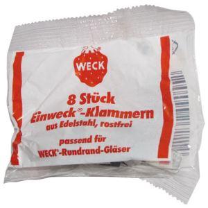 Weck 8 clips à bocal en inox