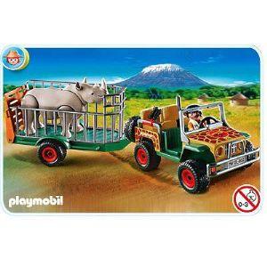 Playmobil 4832 - Véhicule de safari avec rhinocéros