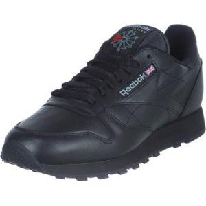 Reebok Classic Leather, Baskets Basses Femme, Noir (Black), 40.5 EU