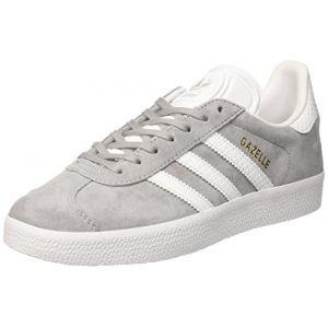 quality design 1fdb1 cbaf6 Comparer chez 4 marchands. Adidas Gazelle, Baskets Basses Femme, Gris (Mid  Grey FTWR White Gold
