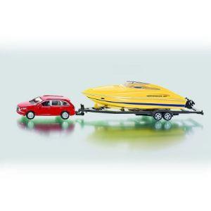Siku 2543 - Voiture avec bateau à moteur - Echelle 1:50