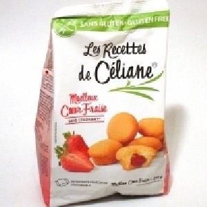 Les Recettes de Céliane Moelleux coeur fraise sans gluten (210g)