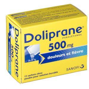Sanofi Doliprane 500 mg, 12 sachets (poudre)