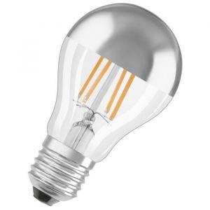 Osram Ampoule LED E27 standard calotte argentée 7 W équivalent a 51 W blanc chaud - Culot : E27 - Puissance : 7 W - Equivalence : 51 W - Flux lumineux : 650 Lm.