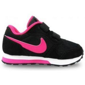 Nike MD Runner 2, Running Fille, Gris, 16 EU, Noir (Black/Vivid Pink/White), 19.5 EU
