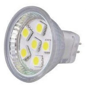 Elektron Ampoule GU4 LED SMD - 80 lumens - Equivalent à 7.5 W halogène - Conso - : 1,4 W - 80 lumens - 6500 K - 12/24 V