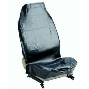 IWH Housse de protection de siège pour garage 1 pièce 074010 Cuir synthétique noir siège conducteur