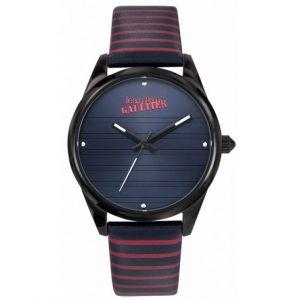 Jean-Paul Gaultier Montre Jean-Paul Gaultier 8502417 - Bracelet Cuir Bicolore Noir Rouge Boitier Acier Argenté Femme