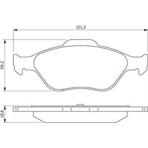 Bosch BP306 - 4 Plaquettes de frein Avant