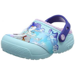 Crocs Fun Lab Lined Frozen Clog, Fille Sabots, Bleu (Ice Blue), 30-31 EU