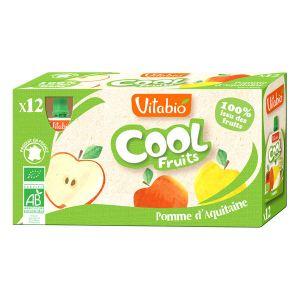 Vitabio Cool Fruits - 12 compotes Bio pomme d'Aquitaine