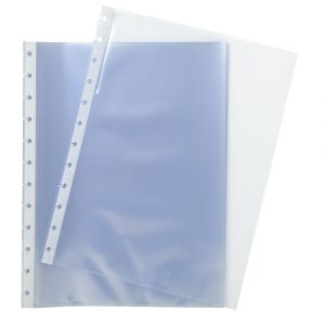 Exacompta 86134E - Recharge 10 pochettes pour protège-documents détachables à anneaux
