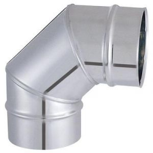 Isotip Joncoux ISOTIP-JONCOUX 032512 Coude Secteur 90° Tyral 304, Inox, Diamètre 125