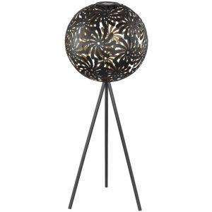 Globo Lampadaire solaire à LED design or-noir Lampe sur pied modèle Ball Spot de jardin 3 pieds 33634B