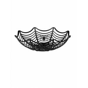 Panier à bonbons toile d'araignée Halloween (27 cm)