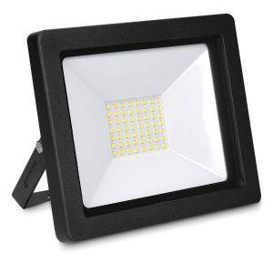 Kwmobile Projecteur Led 3250 Lumens - Luminaire Étanche 50w - Éclairage Pour Extérieur Jardin Chantier Ou Intérieur - Spot Avec Support Mur Ou Sol
