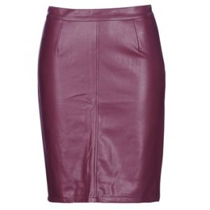 Noisy may Nmpenny PU Skirt Noos, Jupe Femme, Rouge (Port Royale Port Royale), 36 (Taille Fabricant: X-Small)