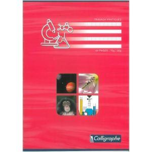 Clairefontaine Cahier travaux pratiques piqûres à grands carreaux 48 pages 21 x 29,7 cm