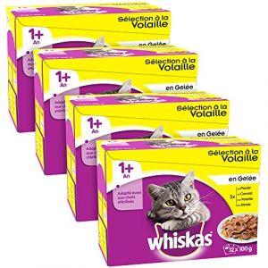 Whiskas Délices de volailles en gelée 12 x 100 g (x4)