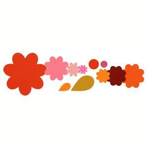 Sizzix 658692 Framelits Pack de 11 Matrices de Découpage Rosace Florale et Feuille de Stephanie Barnard 25,7 x 15,7 x 0,8 cm