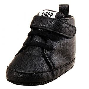 DAY8 Chaussures Bébé Fille Premier Pas Bébé Garçon Chaussure Hiver Chaussons Bebe Fille Printemps Anti Glissant Bottines Mixte Bébé Baskets Bottes Bottillons Bébé Fille PU Cuir