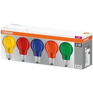 Osram Led colorbox standard 1.6W E27 verre déco x 5 en boite - Categorie fantome